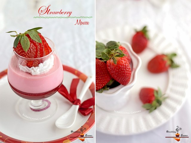 No Dairy Strawberry Mousse