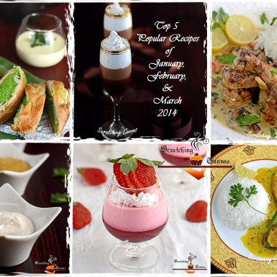 Top 5 Popular Recipes of January, February and March 2014