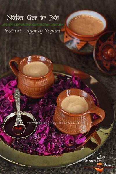 Bengali Nolen Gurer Mishti Doi in 10 mins | Instant Sweet Yogurt in Date Palm Jaggery