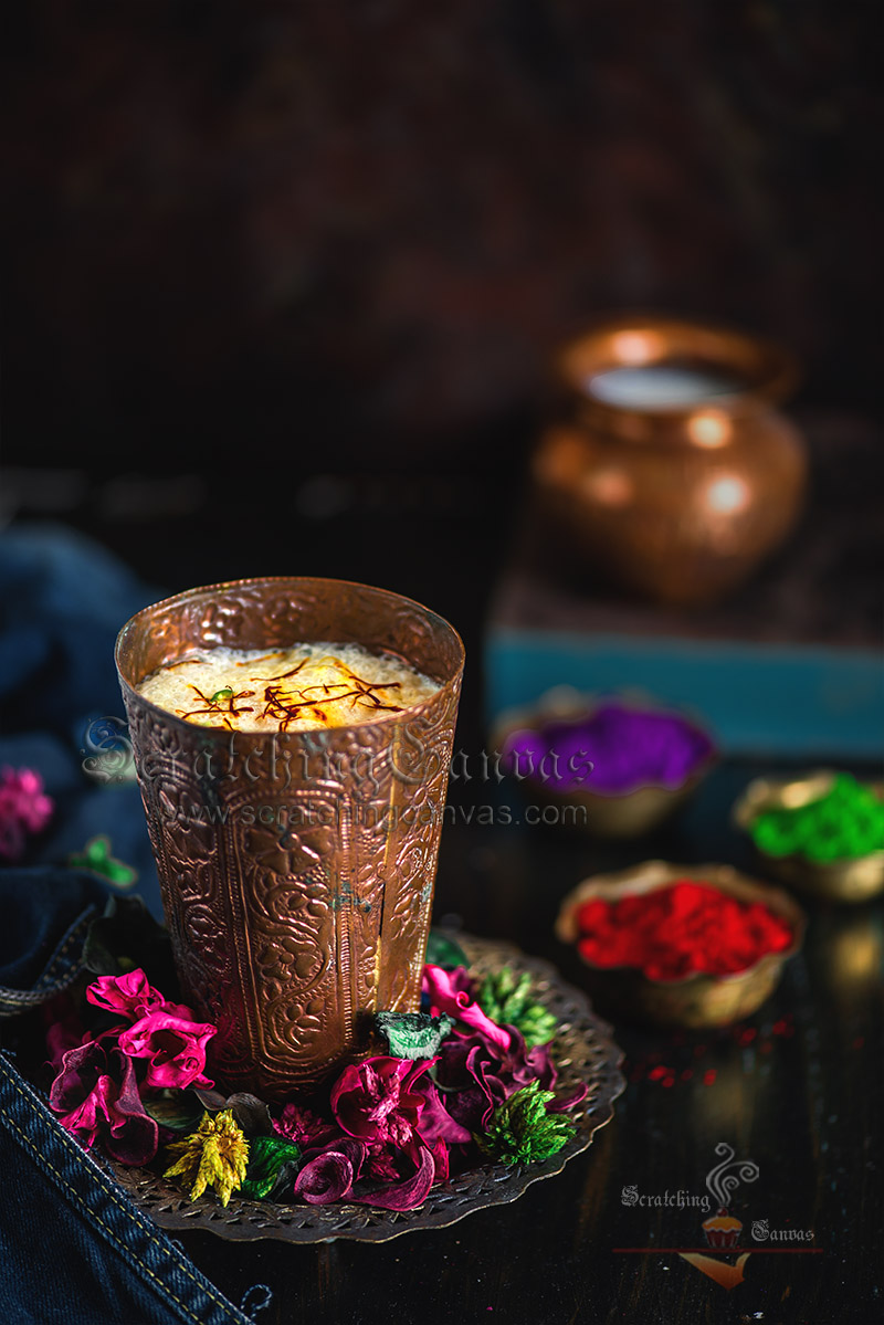 Thandai Sardai Food Photography Styling