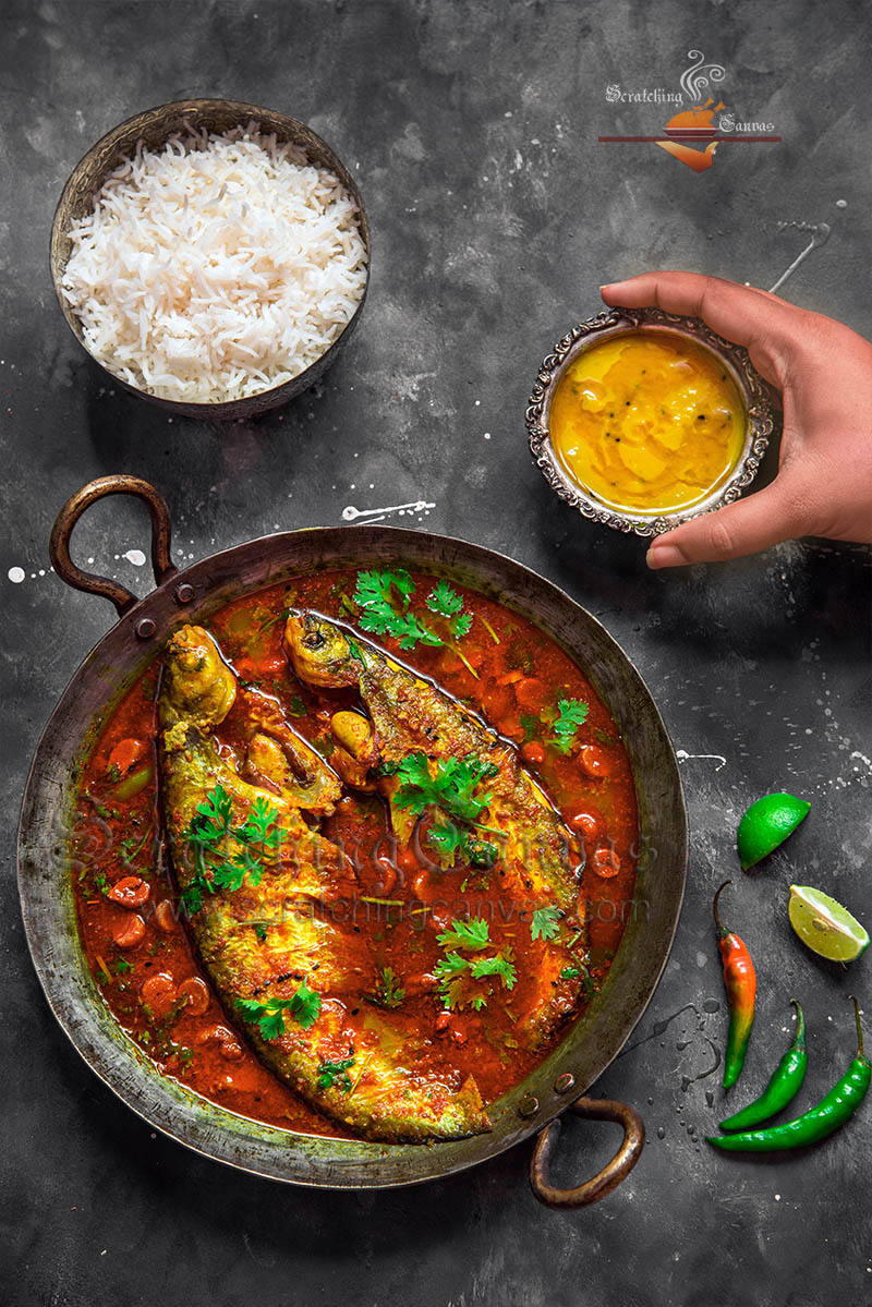 Bangladeshi butterFish Curry Food Photography Styling