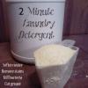2 Minute DIY Laundry Detergent