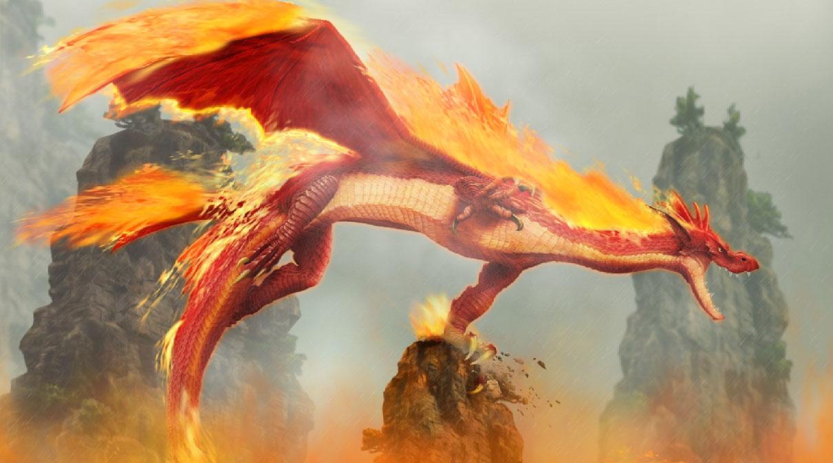 Fire Dragon Screensaver