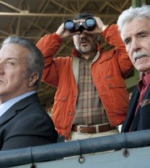 Pictured: Joan Allen, Dustin Hoffman, John Ortiz and Dennis Farina. Image cortesy & copyright HBO