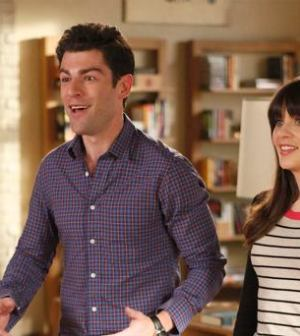 NEW GIRL: Schmidt (Max Greenfield, L) and Jess (Zooey Deschanel, R) Image ©FOX Broadcasting Company