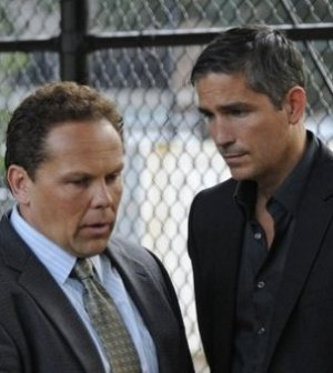 Kevin Chapman (left) and Jim Caviezel (right) in Person of Interest. Image © CBS