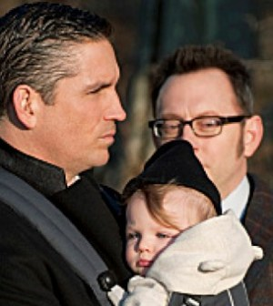 Jim Caviezel (Reese) and Michael Emerson (Finch) in Person of Interest. Photo credit: CBS
