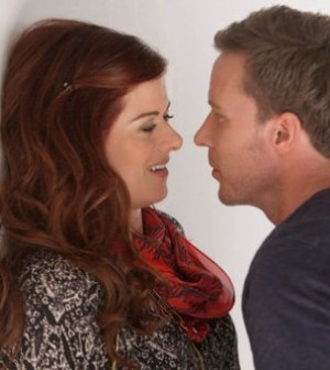 Debra Messing and Will Chase in NBC's Smash. Image courtesy and © NBC.