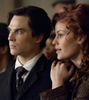 The Vampire Diaries: Ian Somerhalder as Damon, Cassidy Freeman as Sage. Image © the CW Network