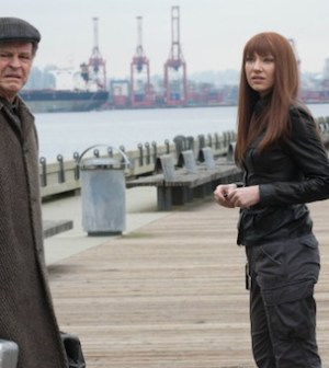 John Noble, Anna Torv, and Seth Gabel in 'The Consultant' on Fringe. CR: Liane Hentscher/FOX