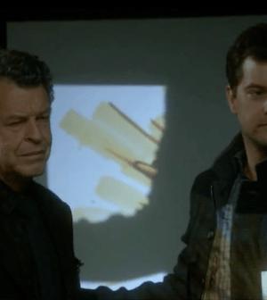 John Noble and Joshua Jackson in Fringe (Image © Fox Broadcasting Co.)