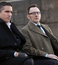 Jim Caviezel (L) and Michael Emerson (R). Photo: Eric Liebowitz/CBS.