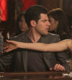 Max Greenfield and Zooey Deschanel in New Girl. ©2012 Fox Broadcasting Co. Cr: Patrick McElhenney/FOX