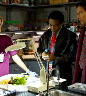 Donald Glover as Troy, Danny Pudi as Abed -- Photo by: Justin Lubin/NBC