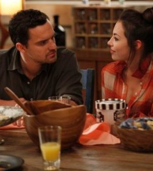 Jake Johnson & Guest Star Chloe Bridges in NEW GIRL. ©2012 Fox Broadcasting Co. Cr: Greg Gayne/FOX