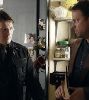 Nathan Fillion and Adam Baldwin in Castle (Image © ABC. All Rights Reserved.)