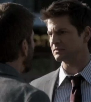 Joe Lando (l) and Gale Harold (r) in The Secret Circle. Image © The CW Network