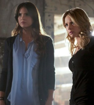 "Shelley Hennig as Diana and Britt Robertson as Cassie in ""Family."" Photo: Marcel Williams/The CW ©2012 The CW Network"