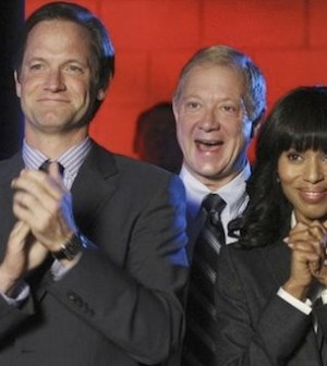 Matt Letscher, Jeff Perry, and Kerry Washington in SCANDAL (Photo © ABC/CAROL KAELSON)