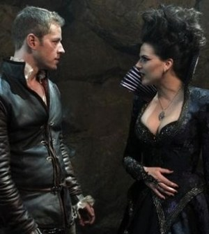 Josh Dallas and Lana Parrilla in Once Upon a Time. Image by Jack Rowland/ABC Television Network.