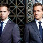 SUITS: Patrick J. Adams & Gabriel Macht -- Photo by: Robert Ascroft/USA Network