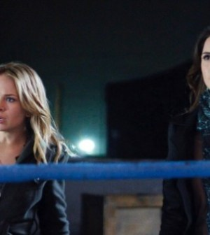 Britt Robertson and Shelley Hennig in The Secret Circle. Image © The CW Network