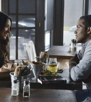 Shay Mitchell and Sterling Sulieman in Pretty Little Liars. Image © ABC Family