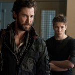 Noah Wyle and Connor Jessup in Falling Skies. Photo by James Dittiger. Image © TNT.