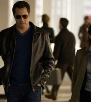 Victor Webster and Rachel Nichols in CONTINUUM (Photo © 2012 Shaw Media)