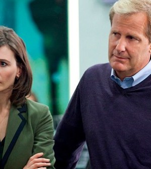 MacKenzie McHale (Emily Mortimer) and Will McAvoy (Jeff Daniels). Photo: © HBO