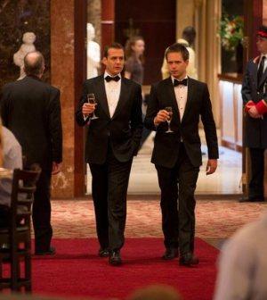 Gabriel Macht as Harvey Specter, Patrick J. Adams as Mike Ross. Photo by: Christos Kalohoridis/USA Network