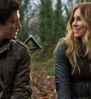 Drew Roy and Sarah Carter in Falling Skies. Image courtesy & © TNT