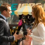 Gabriel Macht and Sarah Rafferty in Suits. Photo by: Christos Kalohoridis/USA Network