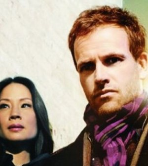 Lucy Liu and Johnny Lee Miller in CBS' Elementary.