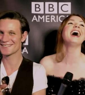 Matt Smith and Karen Gillan of DOCTOR WHO (Photo © BBC America)