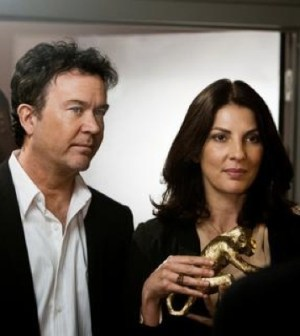 Timmothy Hutton and Gina Bellman in TNT's Leverage. Photo Credit: Erik Heinila