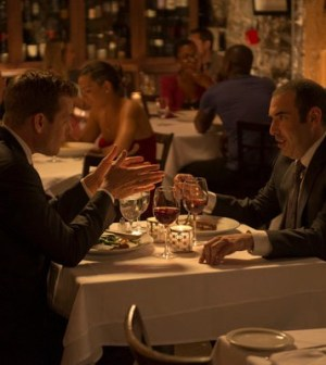 Gabriel Macht and Rick Hoffman in Suits. Image © USA Network