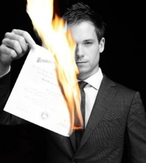 Patrick J. Adams as Mike in Suits. Image © USA.