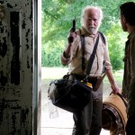 Hershel Greene (Scott Wilson) and Rick Grimes (Andrew Lincoln) - The Walking Dead - Season 3, Episode 1 - Photo Credit: Gene Page/AMC