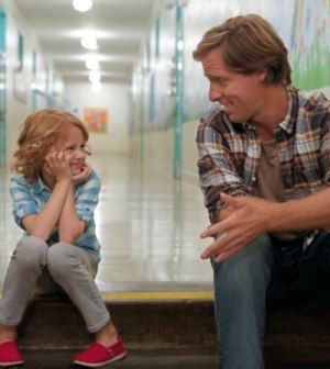 Ben (Nat Faxon, R) and Maddie (Maggie Elizabeth Jones, L) in BEN AND KATE. ©2012 Fox Broadcasting Co. Cr: Jennifer Clasen/FOX