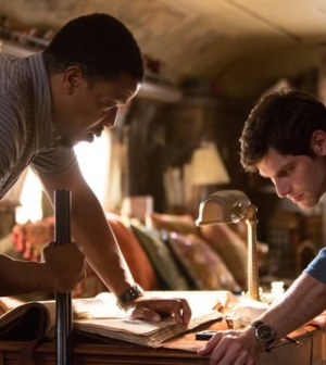 Russell Hornsby (l) and David Giuntoli (r) in NBC's Grimm. (Photo by: Scott Green/NBC)