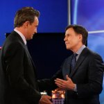 "GO ON ""Any Given Birthday"" Episode 107 Matthew Perry and Bob Costas - (Photo by: Vivian Zink/NBC)"