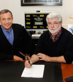 Bob Iger and George Lucas.