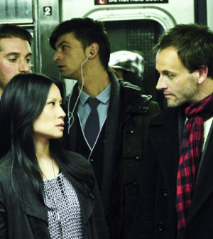 Lucy Liu and Jonny Lee Miller in Elementary. Image: John Paul Filo © CBS