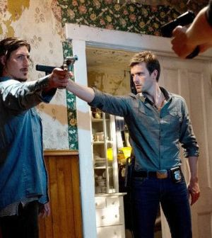 Eric Balfour as Duke Crocker, Lucas Bryant as Nathan Wuornos -- (Photo by: Michael Tompkins/Syfy)