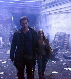 Billy Burke and Tracy Spiridakos in Revolution. Image © NBC