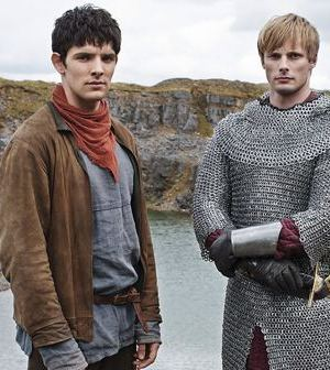 Colin Morgan (Merlin) and Bradley James (Arthur) in Merlin. Image © BBC