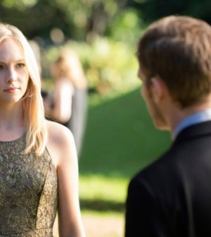 Candice Accola and Joseph Morgan in The Vampire Diaries. Image © The CW Network