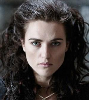 Katie McGrath as Morganna. Image © BBC