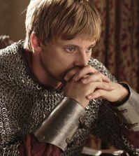Bradley James as Arthur. Image © BBC